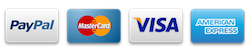 payment accepted by PayPal, Visa, Mastercard and AmEx