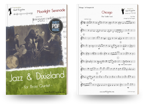 Jazz and Dixieland for Brass Quintet | PDF sheet music by Matt