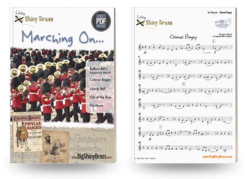 Marching on - Little Shiny Brass - for Junior Brass Band